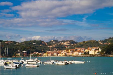 cinque: port of Lerici, Cinque Terre liguria Stock Photo