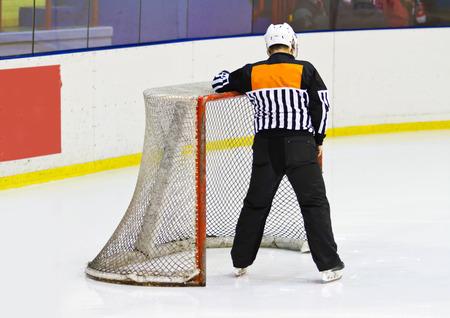 heed: ice hockey net Stock Photo