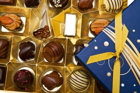 box of chocolates: Box filled with chocolates