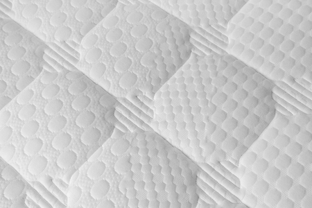 cushioned: Background of soft white mattress