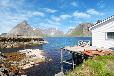 beautiful view of Lofoten Islands, Norway. Stock Photo