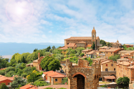 Montalcino beautiful medieval town in Tuscany, Italy