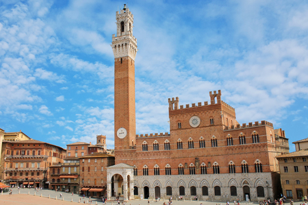 campo: view of Piazza del Campo in Siena, Italy