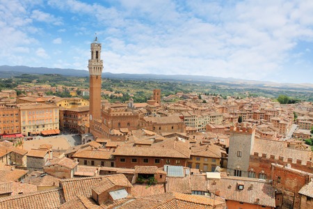 panorama of Siena City in Tuscany