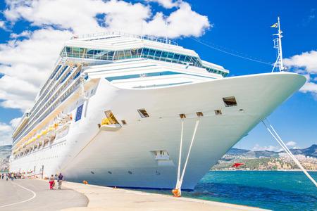 Cruise ship in harbor