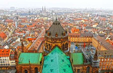 beautiful view of the Strasbourg