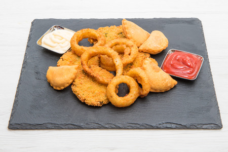fried mixed appetizers Archivio Fotografico