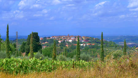 beautiful view of San Gimignano in Tuscany Banco de Imagens