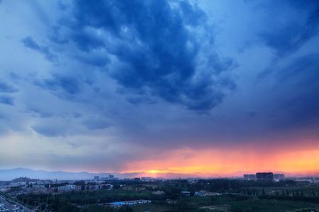 beijing: Beijing sunset