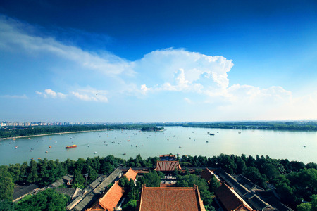 summer palace: Panoramic view of the Summer Palace
