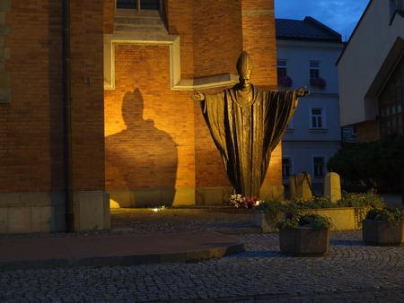 pope: Statue of Pope John Paul II in Tarnow, Poland