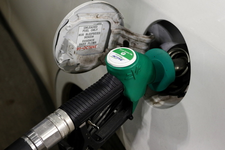 Szczecin, Poland - November 30, 2017: gas pump at the service station
