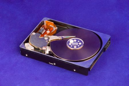 hdd: Blue Opened Hard Drive (HDD) Stock Photo