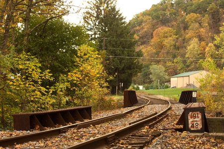 bullhead: Old  Rail road. Pennsylvania. 1 Stock Photo