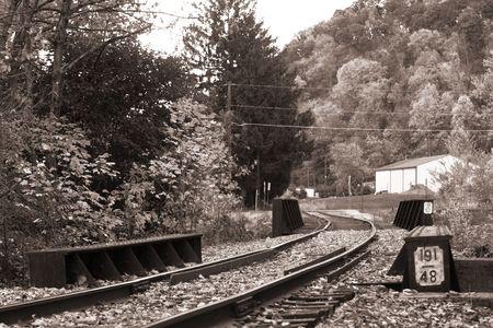 constitutionality: Old  Rail road. Pennsylvania. B&W sepia