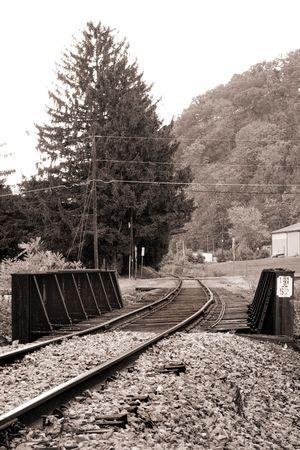 constitutionality: Old rail road bridge. Pennsylvania. B&W sepia