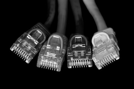tcp: Network cables B&W Macro