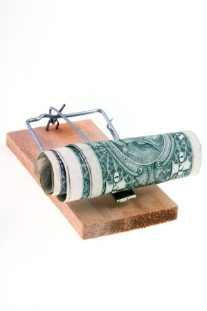 Mouse trap with dollars Stock Photo - 407962