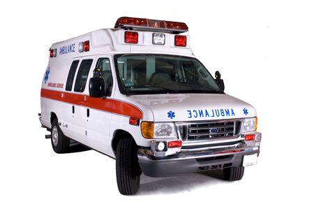 ambulancia: Tipo 2 furgoneta de la ambulancia (aislada en blanco) Foto de archivo