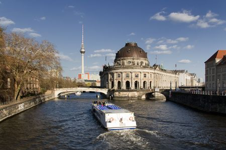 bode: Bode Museum Berlin at the river Spree Stock Photo