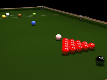 3d render. Colored balls for billiards. Snooker. photo