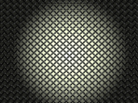 hauberk: Ringed hauberk - front view - nielloed steel on gradient background