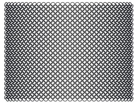 hauberk: Ringed hauberk - front view - nielloed steel on a white background