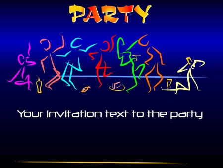 poster or card - the invitation to fun youth parties Stock Vector - 17560009