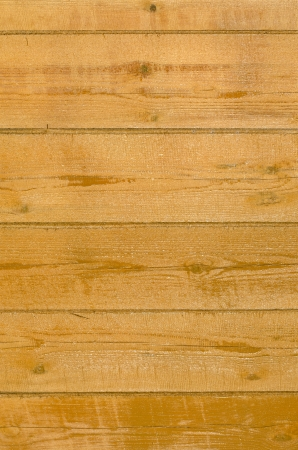 impregnated: wall of the house of timber impregnated with linseed oil Stock Photo