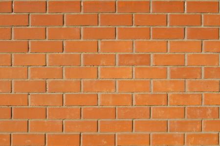masonry texture of red terracotta bricks - even wall