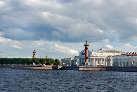 St. Petersburg. View on Vasilevsky Island summer day Stock Photo