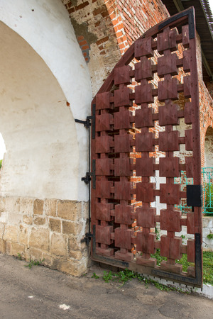 flap gates to old Russian fortress in Zaraysk photo