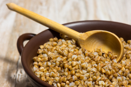 buckwheat cereal - the basis for healing and a dietary food Stock Photo