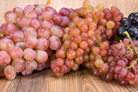 Pink dessert grapes from Central Asia (Samarkand)