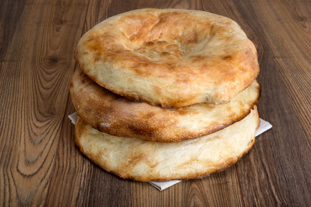 wheat bread in the form of tortillas from Asia, baked in a clay oven