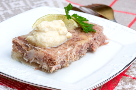 trotter: Russian aspic is a traditional winter dish