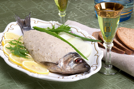 jewish cuisine: A traditional Ashkenazi Jewish dish made of deboned chopped herring, mixed with hard boiled eggs, onions, matzah meal or crumb