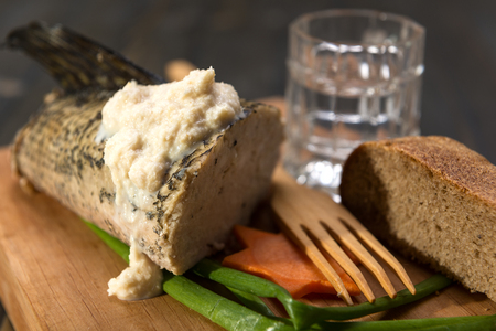 horseradish sauce: A traditional Jewish dinner includes stuffed pike with horseradish sauce and black bread