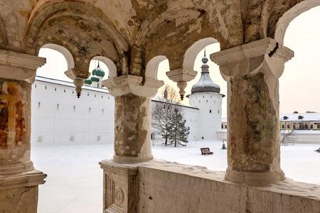 golden ring: old church in Rostov Kremlin, Golden Ring of Russia