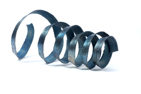 swarf: metal spiral shavings from the lathe tool
