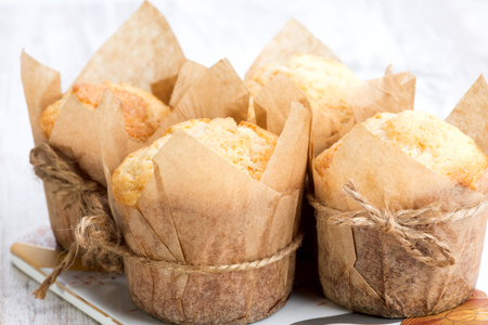 muffin: muffins in the form handmade paper