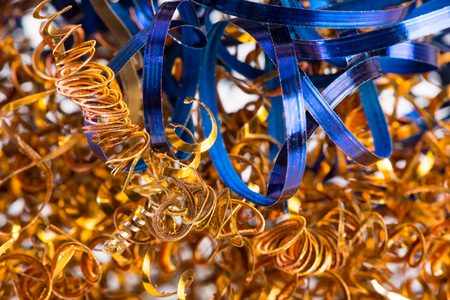 color shavings after turning - abstract industrial background Stock Photo