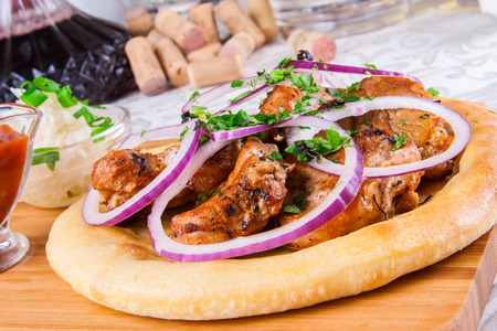 pita: Grilled meat on pita bread
