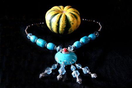 Necklaces, pendants, pumpkins photo