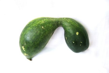 Vegetables, wax gourd, green, long photo