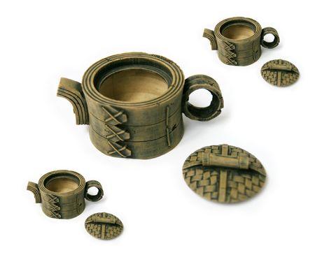 pm: Pm, art, breakfast, ceramics, porcelain Stock Photo