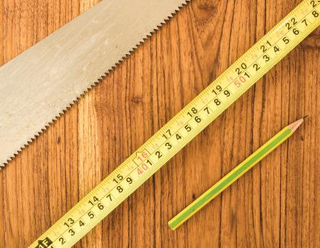 woodwork: Woodwork instrument,topview shot. Stock Photo