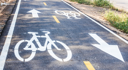 bikeway: Road sign for bicycle lane only.