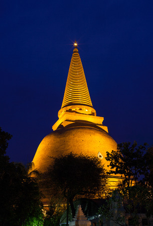 mentioned: Phra Pathommachedi mThe stupa at the location is first mentioned in Buddhist scriptures.