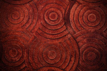 red stone: Brown Red Stone with Vignette Wall Background Texture. Stock Photo